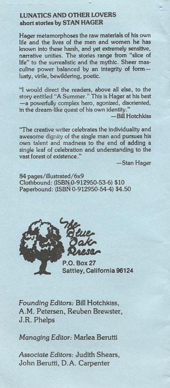 Blue Oak Press Brochure